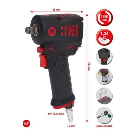 """Αερόκλειδο 1/2"""" Minimonster 1390 Nm Ks Tools"""